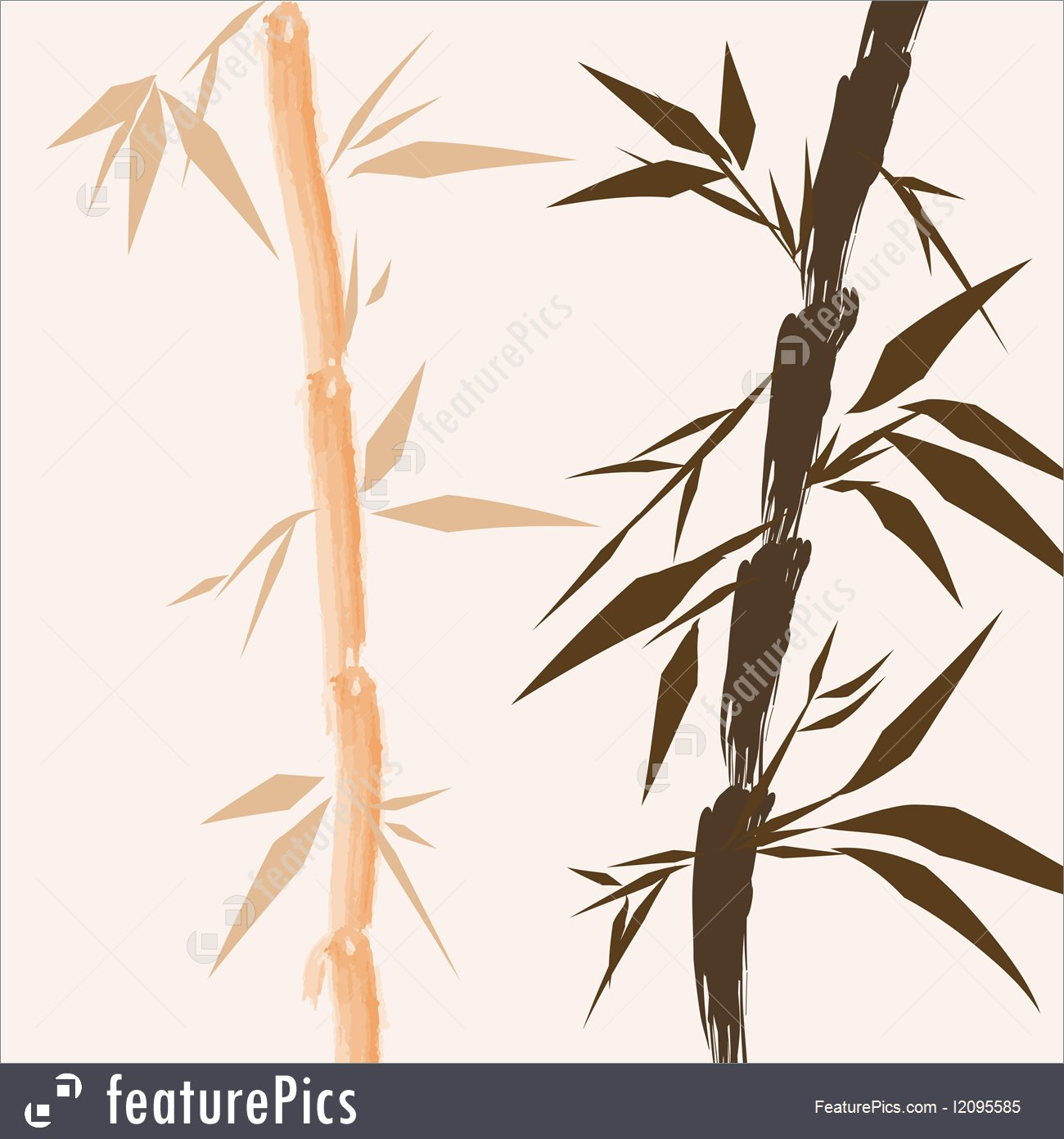 1300x1392 Illustration Of Design Of Chinese Bamboo Trees