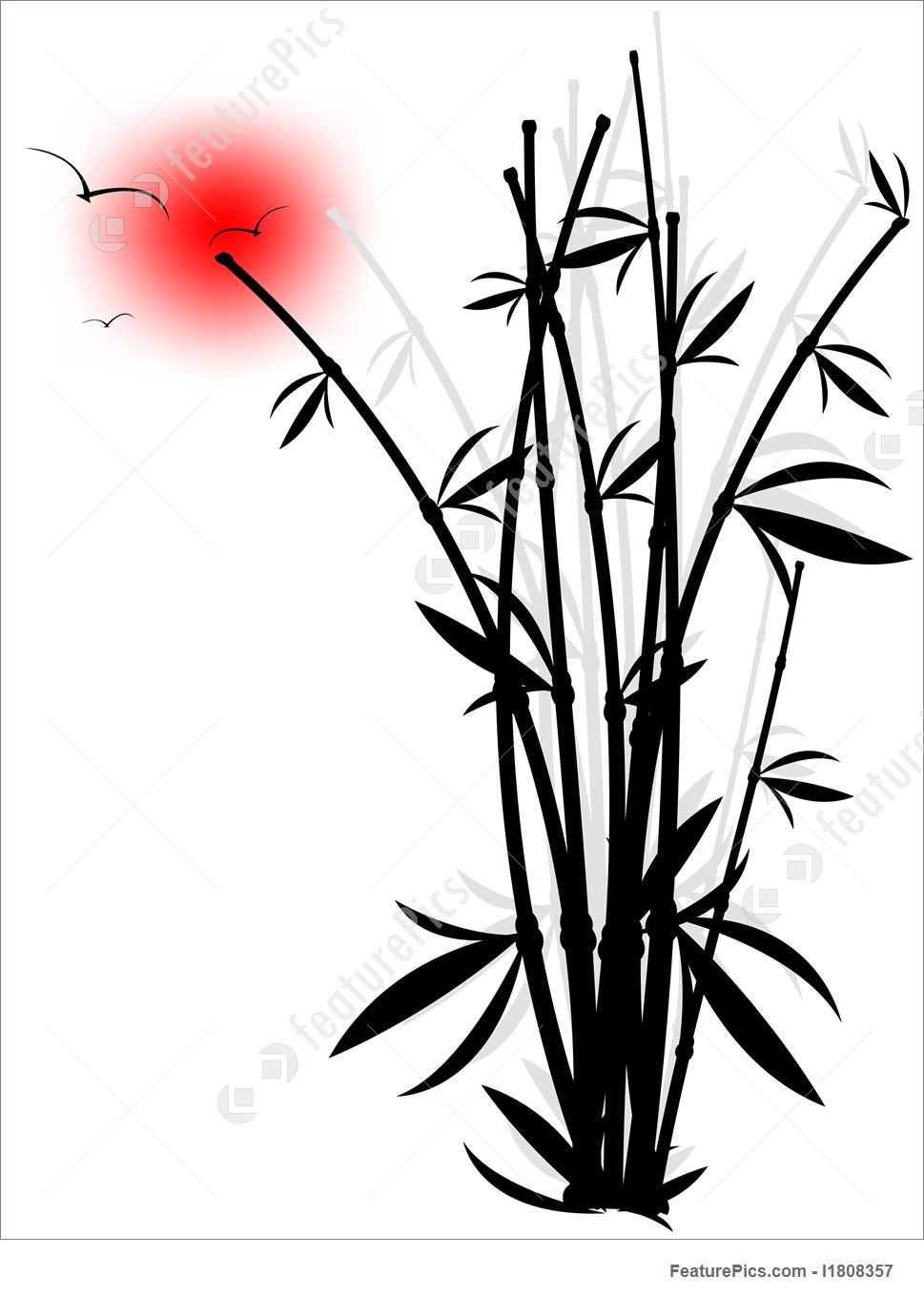 969x1360 Plants Abstract Silhouette Of Bamboo