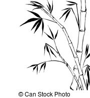 179x194 Silhouette Bamboo Trees Vector Clipart Royalty Free. 1,019