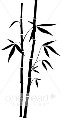 202x388 Bamboo Clipart Black And White