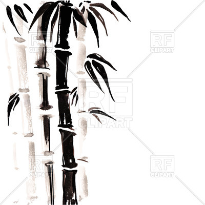 400x400 Bamboo In Oriental Style Royalty Free Vector Clip Art Image