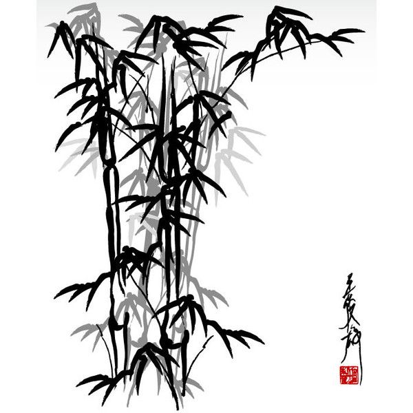 600x600 Ink Bamboo Eps Vector All Free Brush Liked On Polyvore