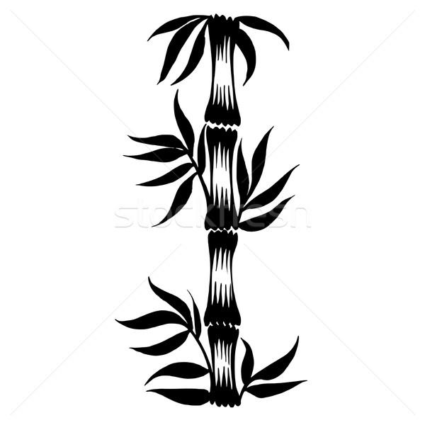 600x600 Decorative Silhouette Bamboo Vector Illustration Olena Stratii