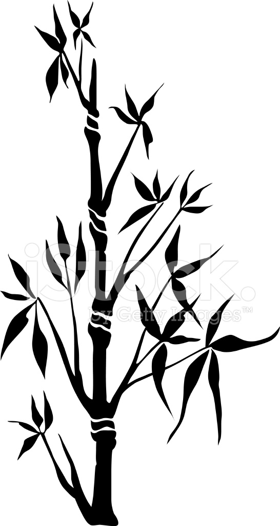 546x1024 Black Bamboo Silhouette Stock Vector