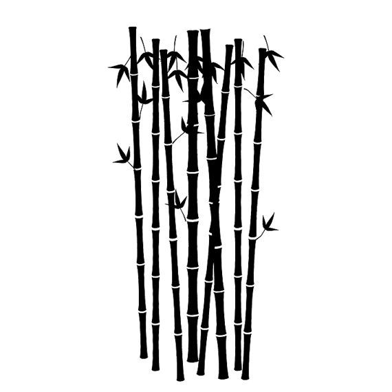 570x570 12 X 36 Bamboo Forest Vinyl Wall Decals By Wilsongraphics On Etsy