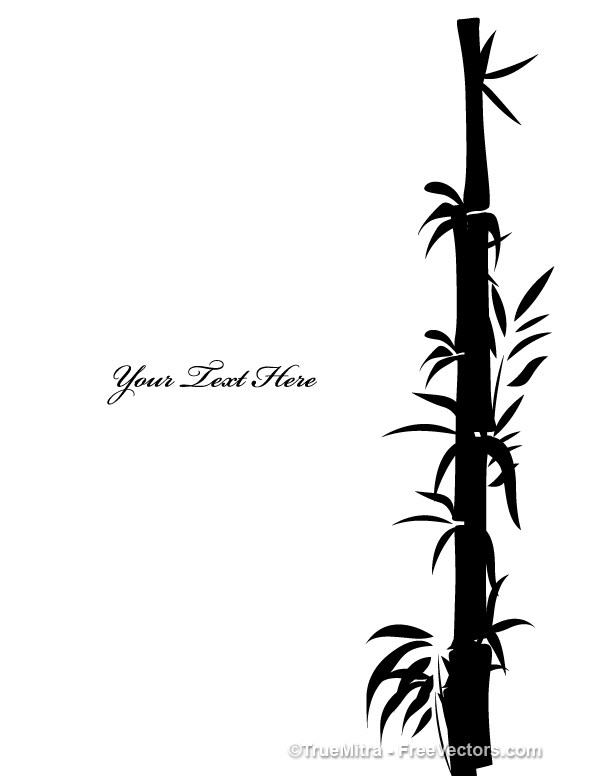 600x776 Download Free Bamboo Tree Shapes Vector Illustration