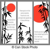 199x194 Silhouette Frame With Bamboo Tree Illustration Vector Clip Art