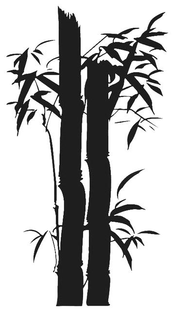 358x640 Tree Silhouette Wall Decal As Well As Bamboo Tree Wall Decal