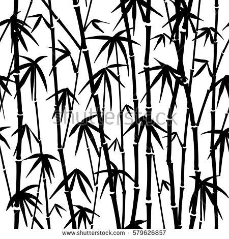 450x470 Bamboo Tree Drawing Black And White