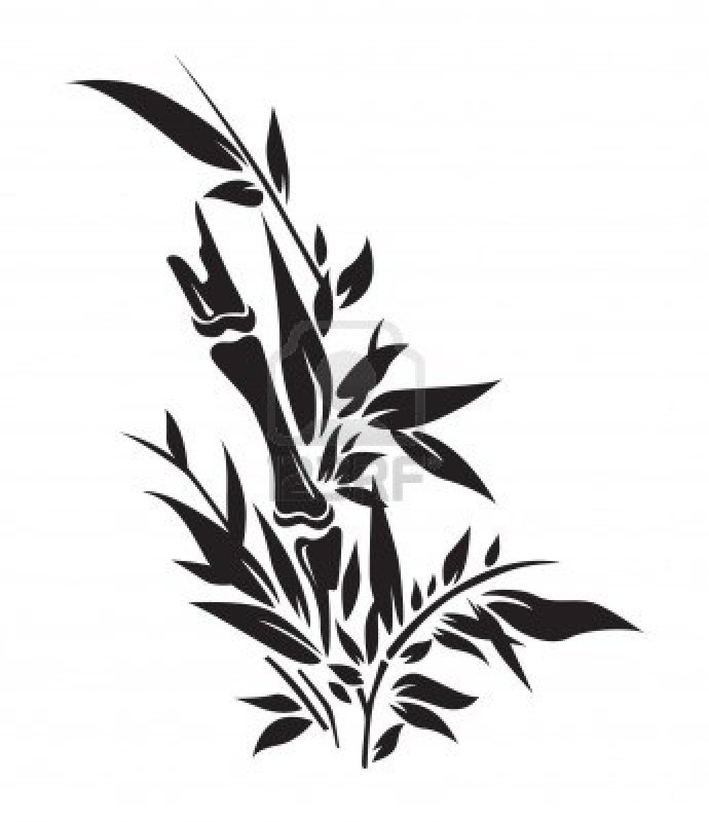 1035x1200 Bamboo Tree Silhouettes Illustration Royalty Free Cliparts