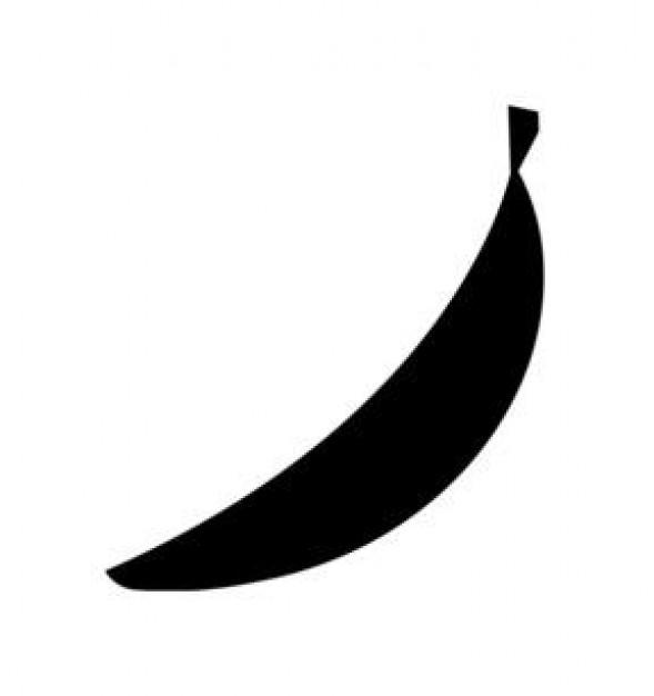 589x626 Banana Silhouette