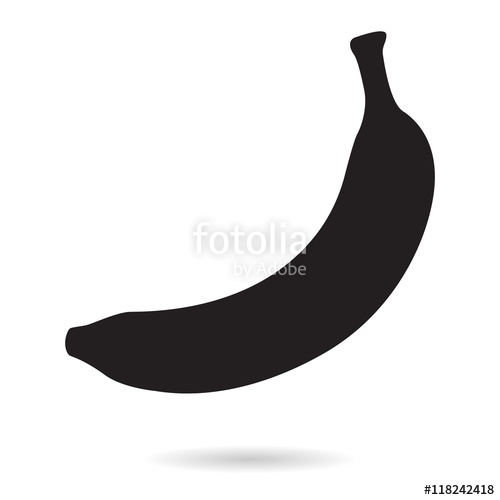 500x500 Banana. Silhouette Icon Stock Image And Royalty Free Vector Files