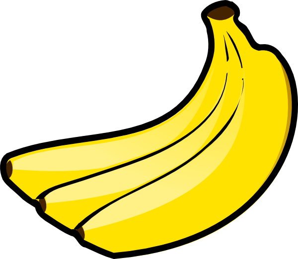 600x522 Awesome Banana Clipart Outline Working Outlines