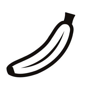 340x340 Free Silhouette Vector Snack, Banana, Fuzzy
