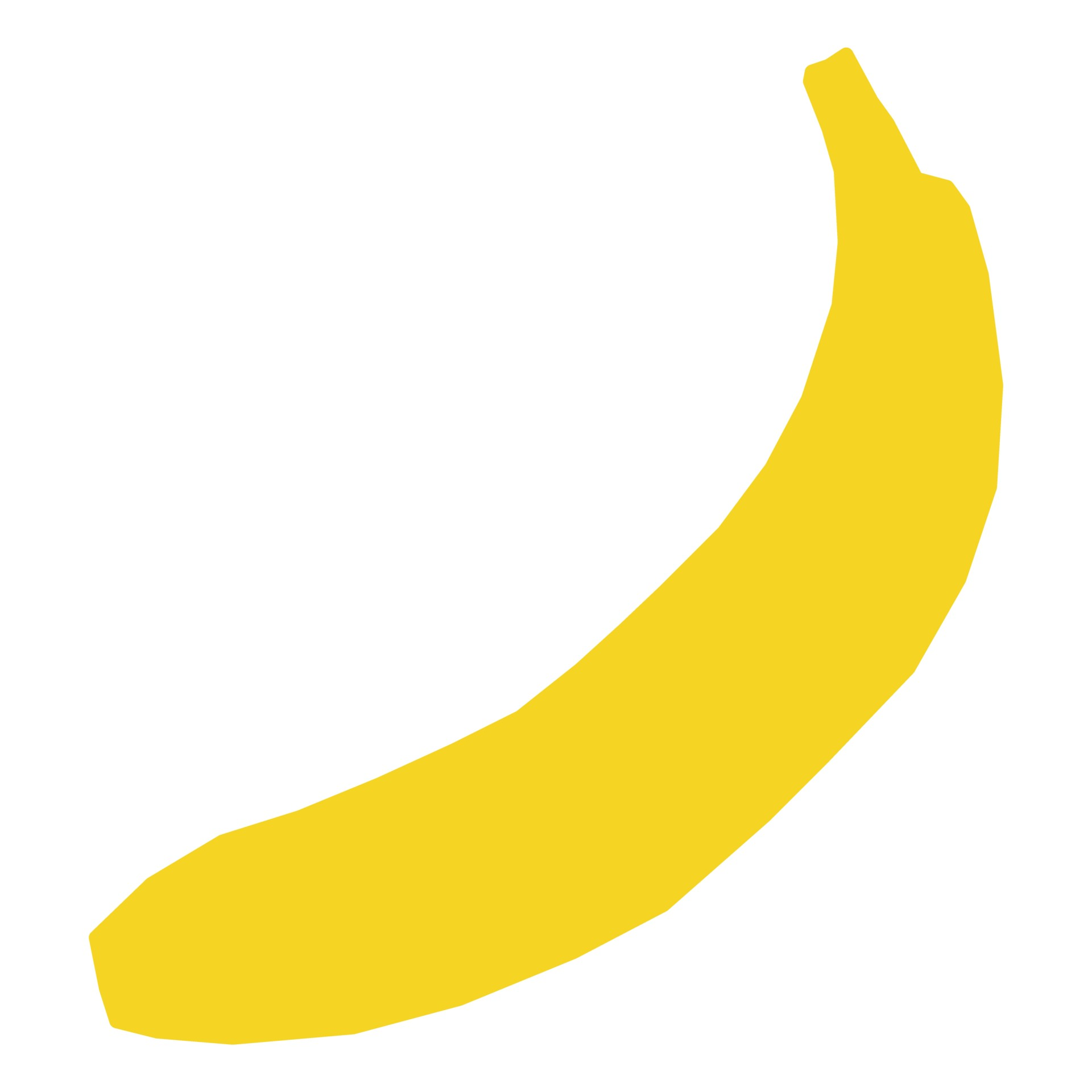 1920x1920 Banana Silhouette Free Stock Photo