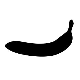 270x270 Banana Silhouette Stencil Free Stencil Gallery