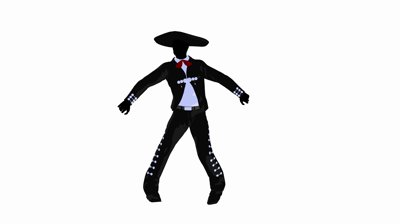 400x224 Mexican Silhouette Clip Art
