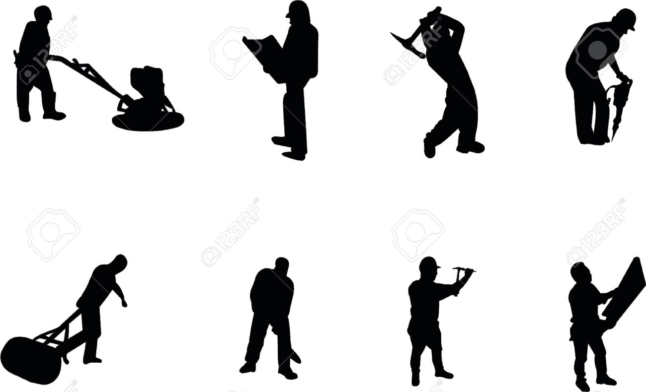1300x790 Silhouette Clipart Construction Worker