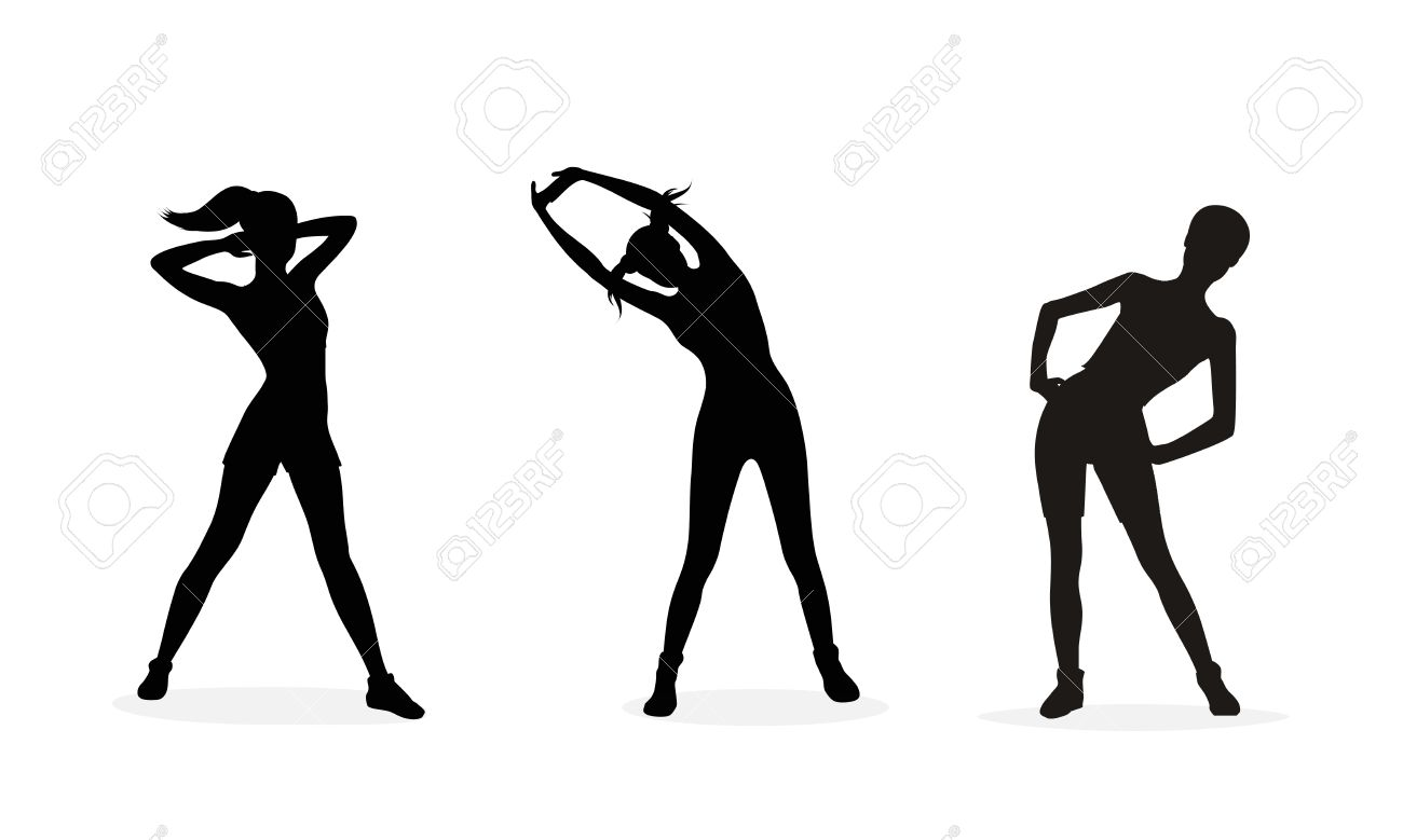 1300x779 Silhouette Clipart Exercise