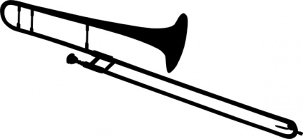425x195 Trombone Silhouette Clip Art Vector, Free Vectors