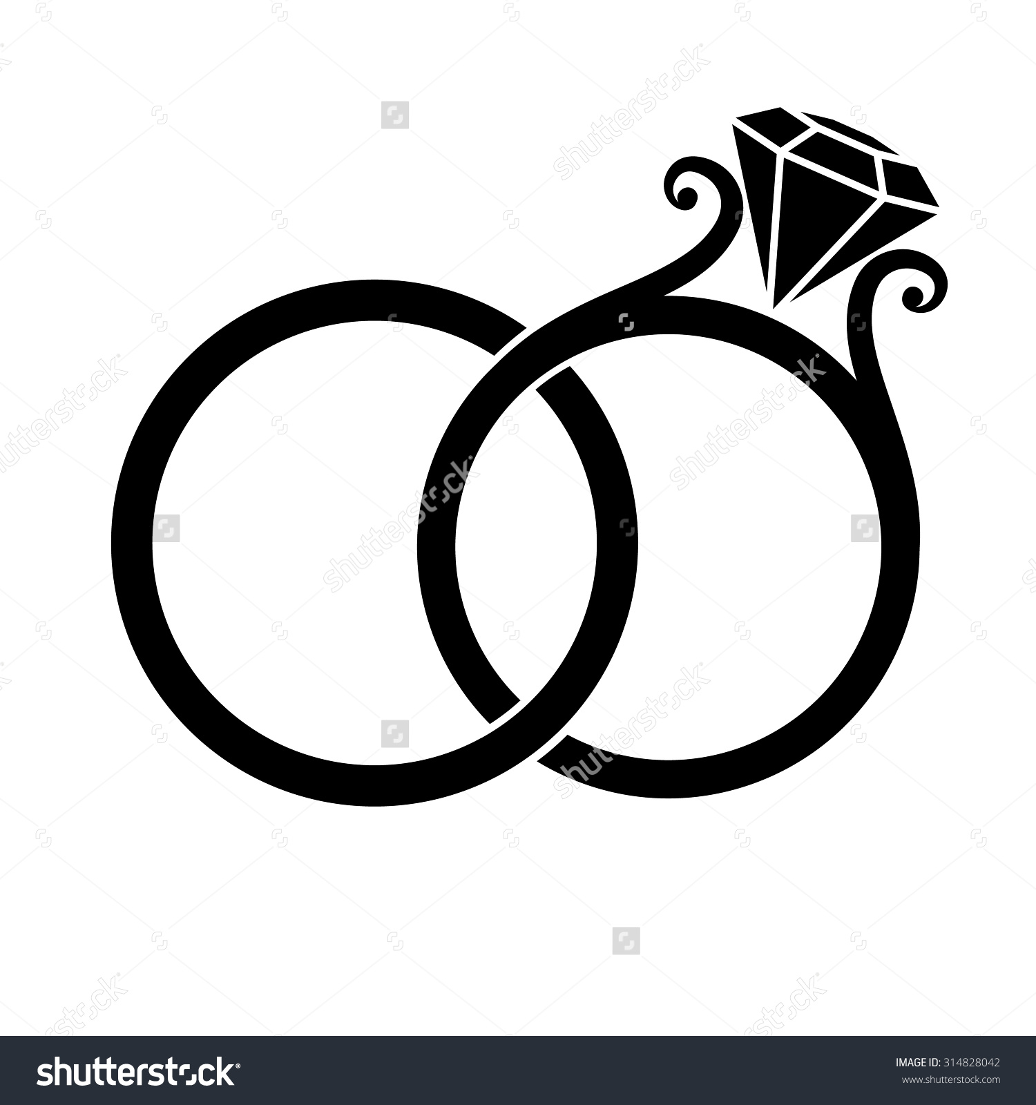 1500x1600 Wedding Band Clipart Black And White