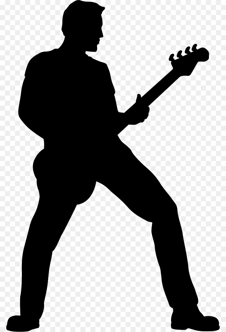 900x1320 Guitarist Silhouette Clip Art