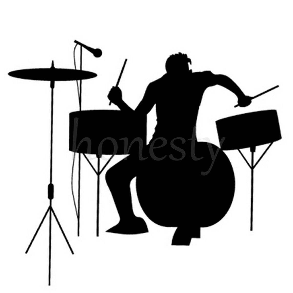 1200x1200 Drums Drummer Silhouette Rock Band Music Window Auto Laptop Wall