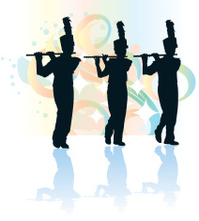 199x221 Rock Band Silhouette Stock Photos