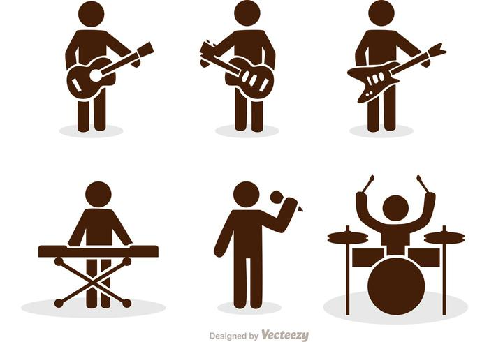 700x490 Band Stick Figure Icons Vector Pack