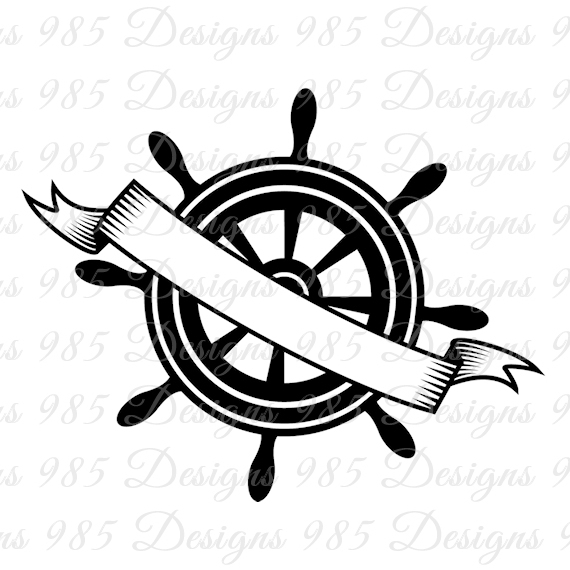 570x570 Ship Rudder With Banner Svg For Cricut By 985 Graphic Designs