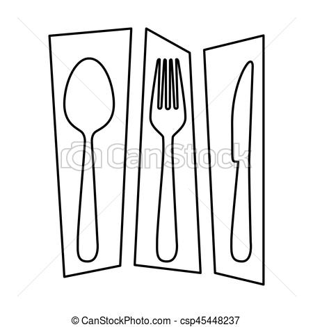 450x470 Silhouette Rectangle Banner Frame Separated With Cutlery