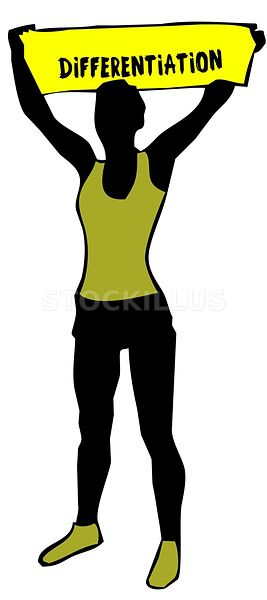 267x600 Stockillus Sporty Woman Silhouette Holding A Yellow Banner Sign
