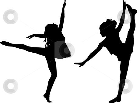 450x339 Free Printable Kids Dance Silouttes Silhouette Sport Dance Stock