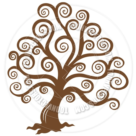 460x460 Cartoon Stylized Brown Tree Silhouette By Clairev Toon Vectors
