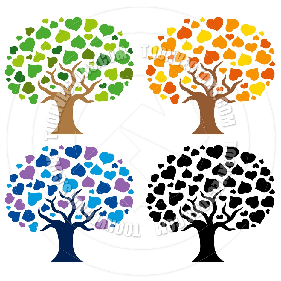 940x940 Cartoon Various Trees Silhouettes By Clairev Toon Vectors Eps