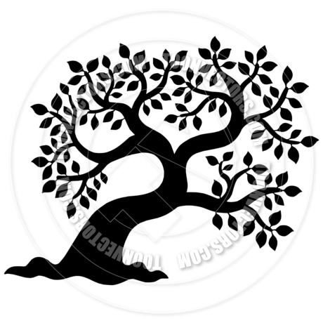 460x460 Leafy Tree Silhouette By Clairev Toon Vectors Eps