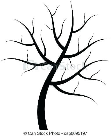 382x470 Outline Of A Tree