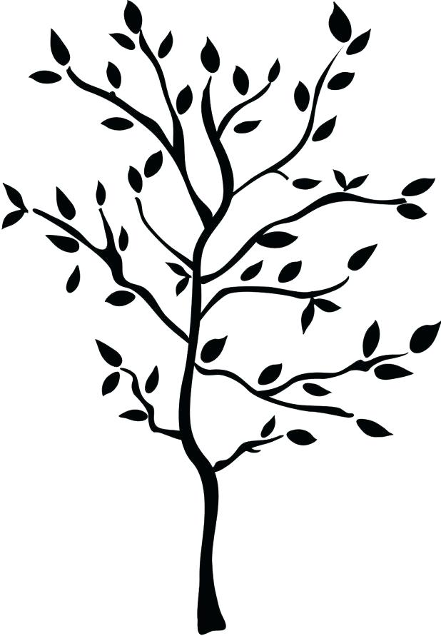 618x891 Banyan Tree Outline Drawing Printable Coloring Tree Outline Stock