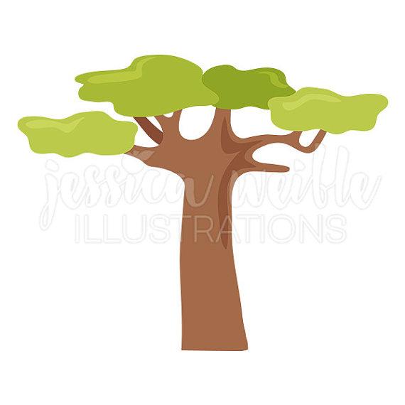 570x570 Baobab Tree Cute Digital Clipart Tree Clip Art Safari