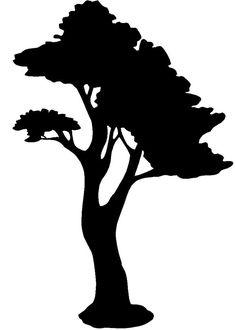 236x330 Oak Tree Silhouette Oak Tree Pictogram, Black Silhouette