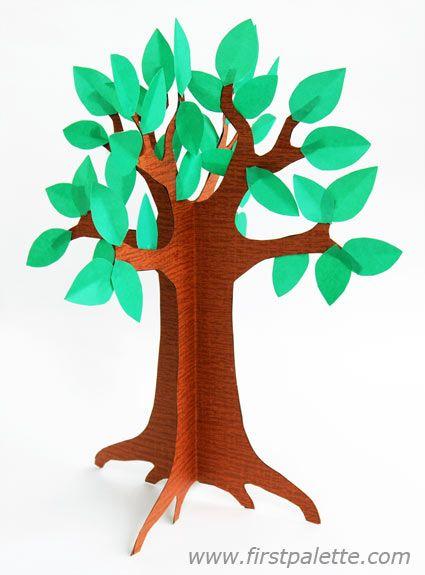 425x575 3d Paper Tree Craft Activity