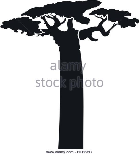 483x540 Baobab Forest Stock Vector Images