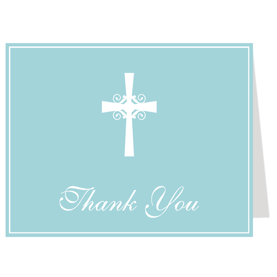 900x900 Silhouette Cross Blue Baptism Invitation The Invite Lady