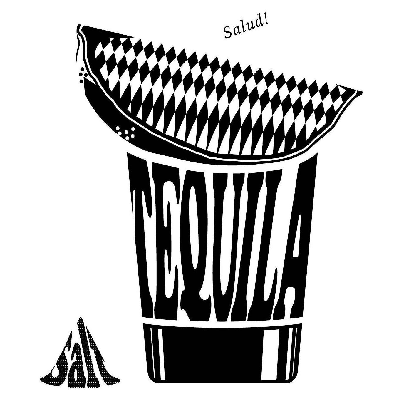 1358x1358 Cocktail Tequila Shot Digital Clip Art Black Silhouette Glass