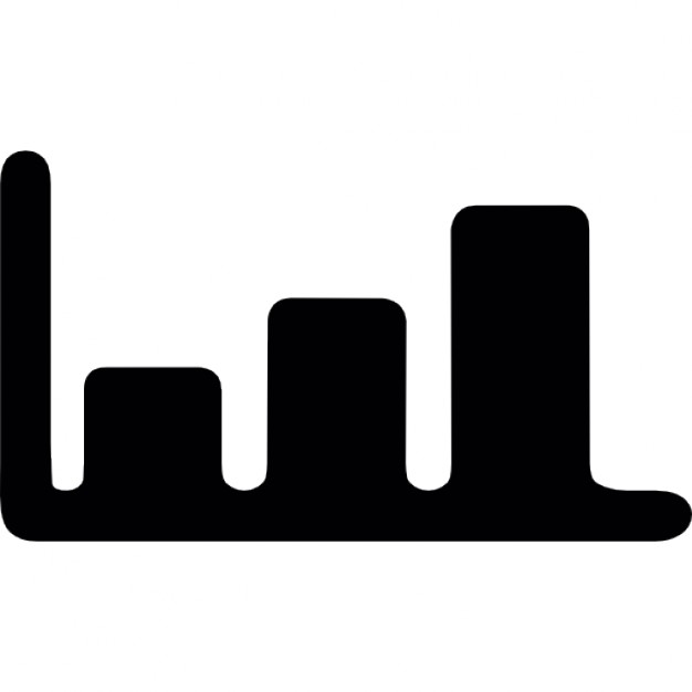 626x626 Increasing Bar Graph Silhouette Icons Free Download
