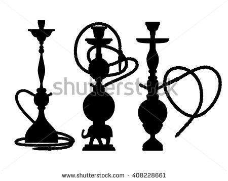450x358 Purchase Black And White Silhouette Shisha Label, Emblem