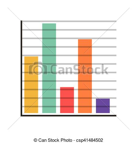 450x470 Silhouette With Color Bar Statistics Vector Illustration Vector