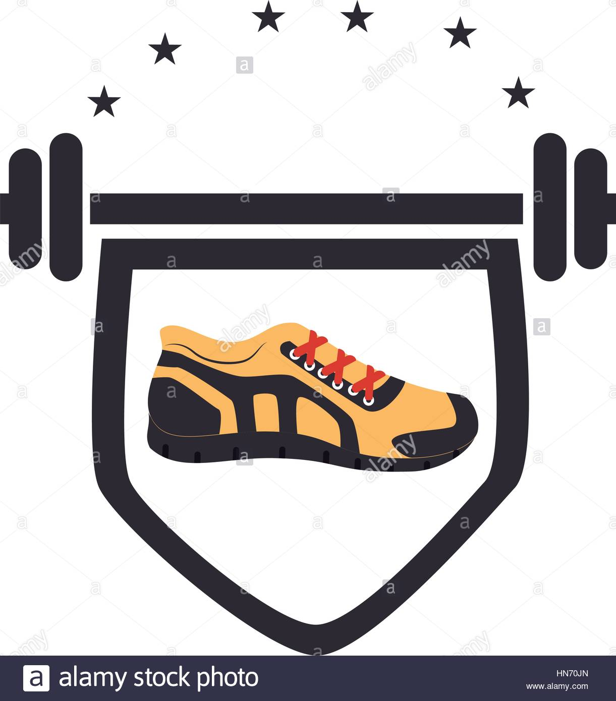 1221x1390 Color Silhouette With Shield With Weighlifting Bar Shoe