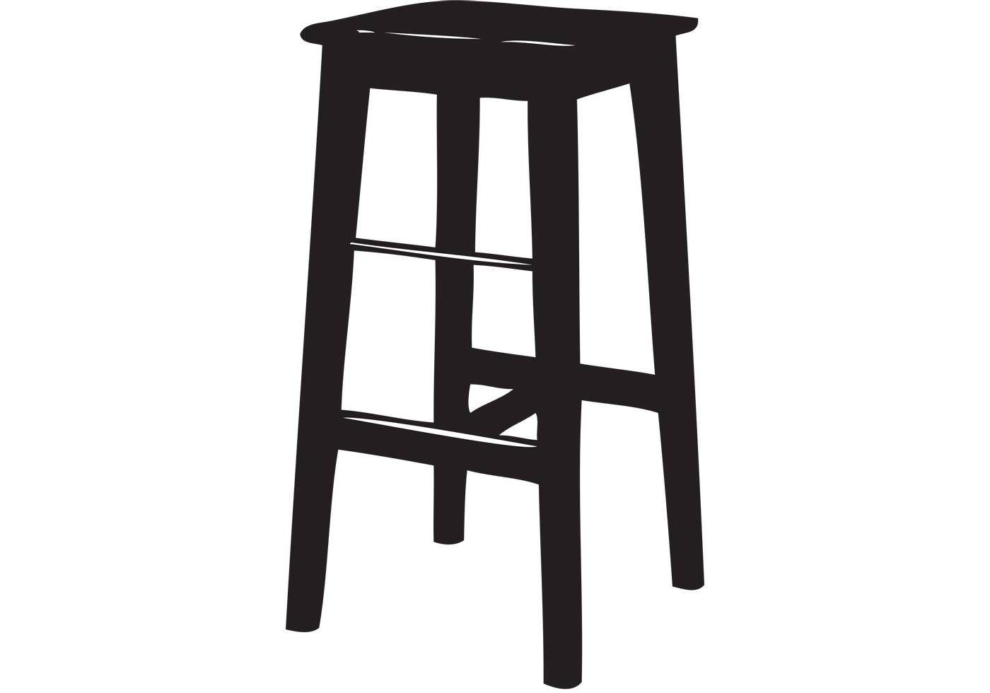 1400x980 Bar Stool Vector Free Vector Art