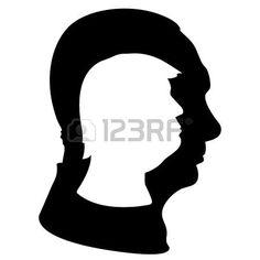 236x236 Donald Trump And Barack Obama Silhouettes